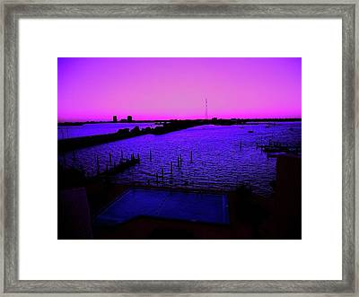 The Purple View  Framed Print