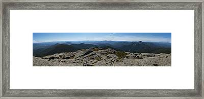 The View North From Mt. Marcy Framed Print