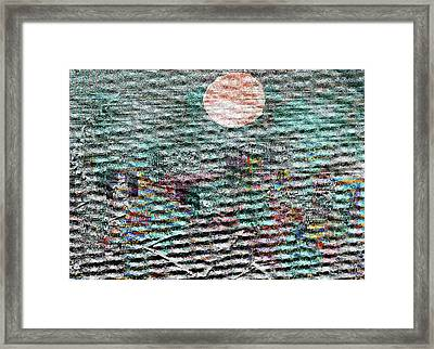 The View Over Atlantis Framed Print by Andy  Mercer