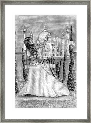 The View Framed Print by Scarlett Royal