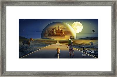 The View To The World Of Fairy Tales Framed Print by Monika Juengling