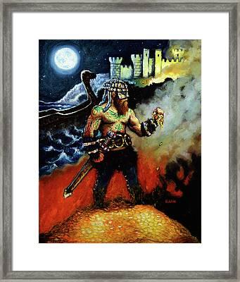 The Viking King Framed Print by Chris Bahn