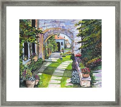 Framed Print featuring the digital art The Villa by Darren Cannell