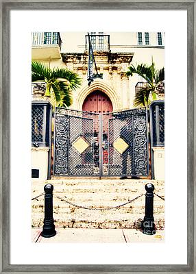 The Villa On Ocean Drive Framed Print by Dieter Lesche