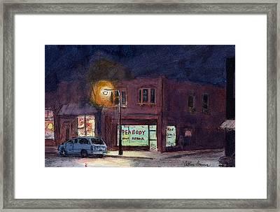 The Village Framed Print by Arthur Barnes