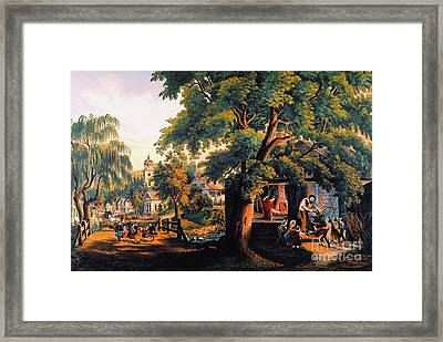 The Village Blacksmith Framed Print by Granger