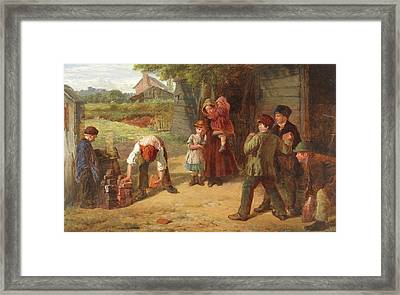 The Village Game Framed Print by William Henry Knight