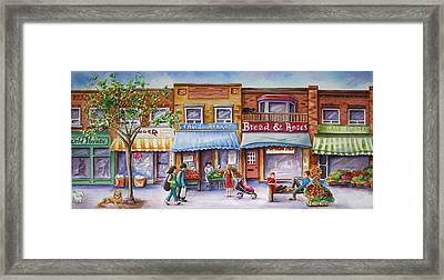 Framed Print featuring the painting The Village by Margit Sampogna