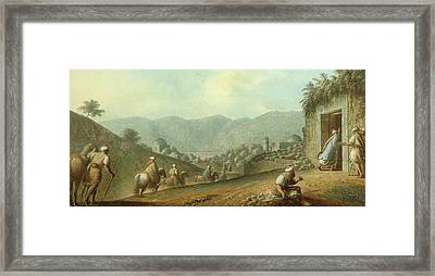 The Village Of Betania With A View Of The Dead Sea Framed Print
