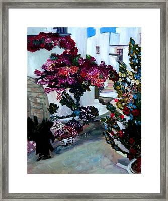The Village Of Oios Greece Framed Print by Helena Bebirian