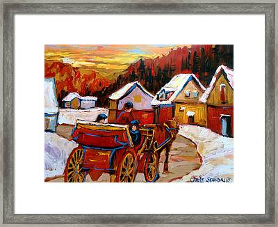 The Village Of Saint Jerome Framed Print by Carole Spandau
