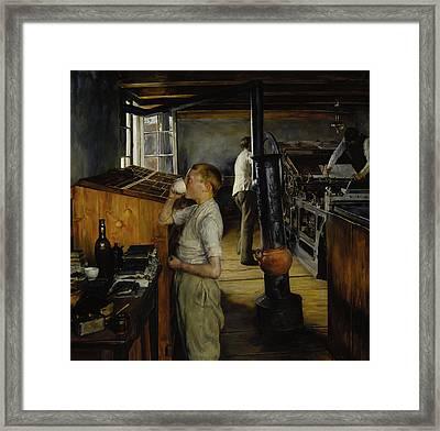 The Village Printing Shop -  Haarlem Holland Framed Print