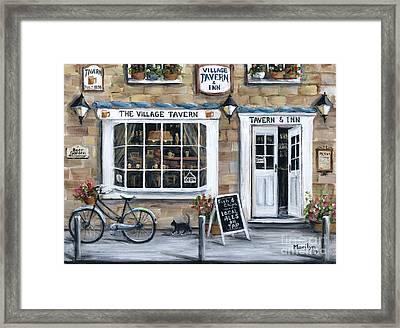 The Village Tavern Framed Print by Marilyn Dunlap