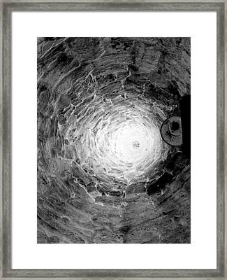 The Village Well Monochrome Framed Print by Martine Murphy