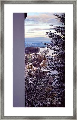 The Village - Winter In Switzerland Framed Print by Susanne Van Hulst