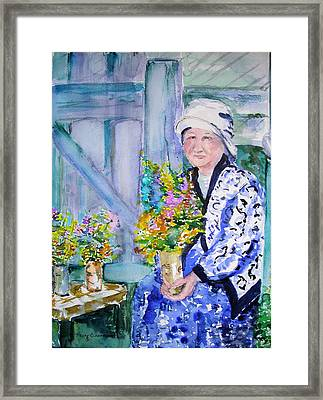 The Villager Framed Print by Nancy Brennand