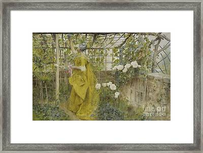 The Vine, 1884 Framed Print by Carl Larsson