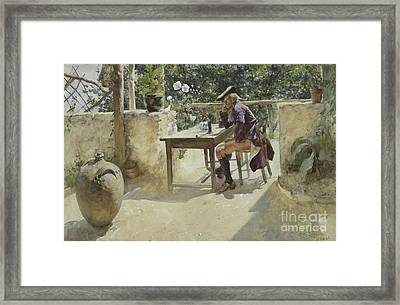 The Vine  Framed Print by Carl Larsson