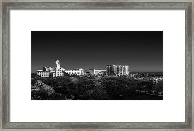 The Vinoy Resort Hotel B/w Framed Print by Marvin Spates