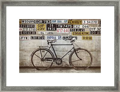 The Vintage Bicycle Framed Print by Martin Bergsma