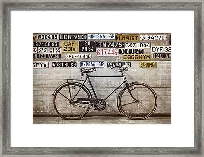 The Vintage Bicycle Framed Print