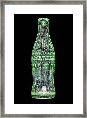 The Vintage Coke Bottle Framed Print by JC Findley