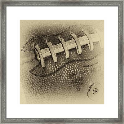 The Vintage Football Framed Print by David Patterson