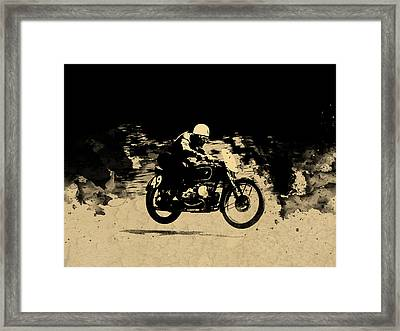 The Vintage Motorcycle Racer Framed Print by Mark Rogan