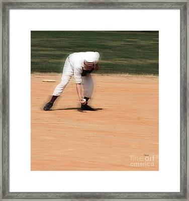 Baseball In The 1860s  Framed Print by Steven Digman
