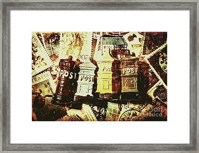 The Vintage Postage Card Framed Print