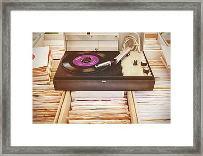 The Vintage Turntable Framed Print by Martin Bergsma