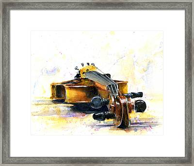 The Violin Framed Print by John D Benson