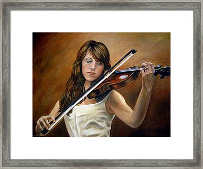 The Violinist Framed Print by Anne Kushnick