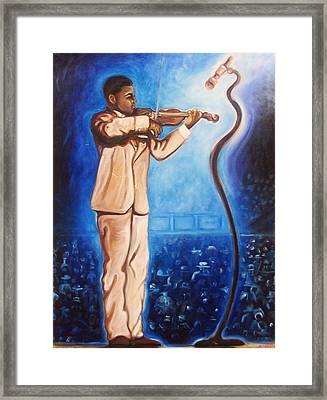 Framed Print featuring the painting The Violinist by Emery Franklin