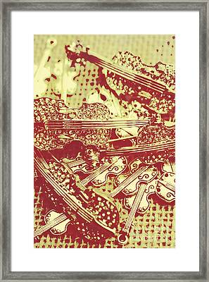 The Violinist Playwright Framed Print