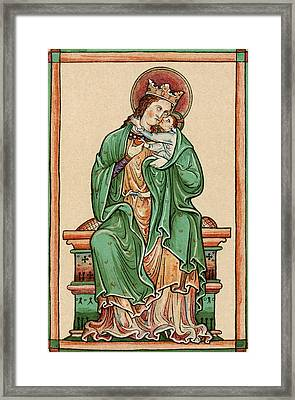 The Virgin And Child. After 13th Framed Print