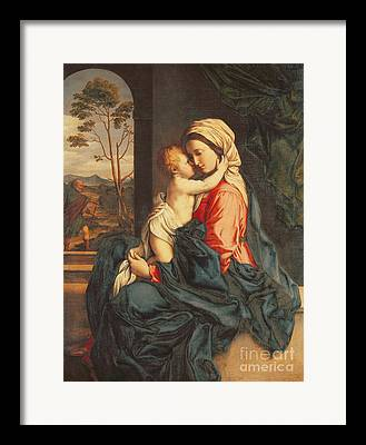 Jesus Christ And Mary Framed Prints