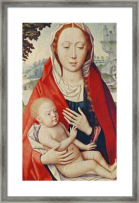 The Virgin And Child Framed Print by Hans Memling