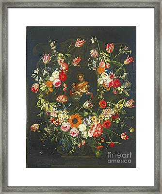 The Virgin And Child In A Stone  Framed Print by MotionAge Designs
