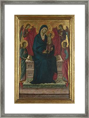 The Virgin And Child With Four Angels Framed Print