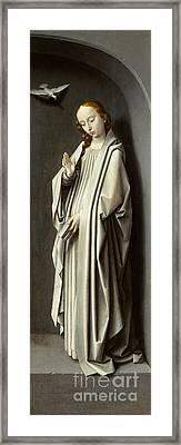 The Virgin Annunciate Framed Print by Gerard David