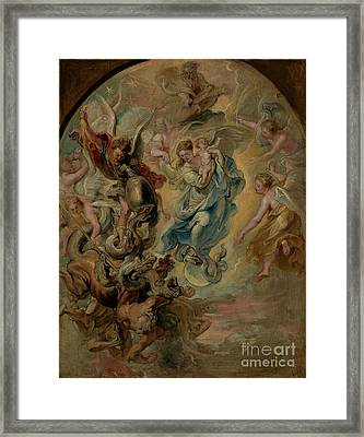 The Virgin As The Woman Of The Apocalypse By Peter Paul Rubens  Framed Print by Esoterica Art Agency