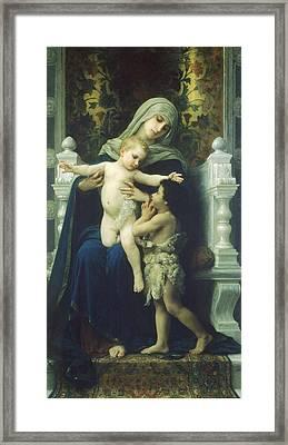 The Virgin Baby Jesus And Saint John The Baptist Framed Print