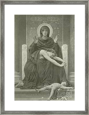 The Virgin Comforter Framed Print