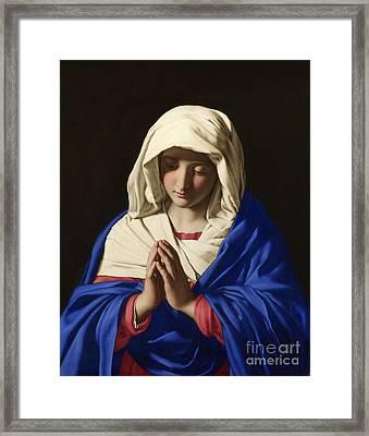 The Virgin In Prayer Framed Print