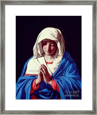 The Virgin In Prayer Framed Print by Il Sassoferrato