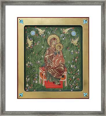 The Virgin In The Garden Of Eden Framed Print