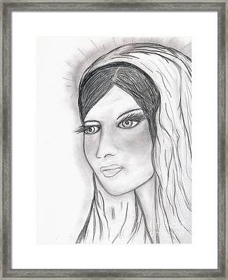 The Virgin Mary Framed Print by Sonya Chalmers