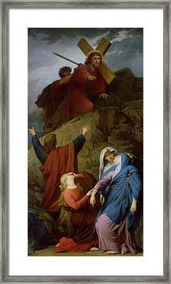 The Virgin Of Calvary Framed Print by Jules Eugene Lenepveu