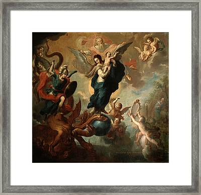 The Virgin Of The Apocalypse Framed Print by Miguel Cabrera